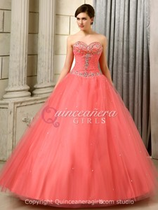 Peach Puffy With Jackets Corset Tulle Floor Length Quinceanera Dress