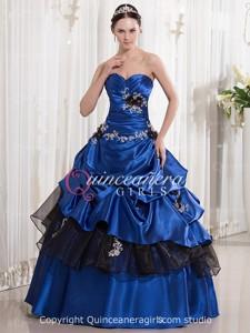 Royal Blue Ball Gown Sweetheart Corset Floor Length Quinceanera Dress
